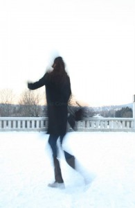 Dancing in snow